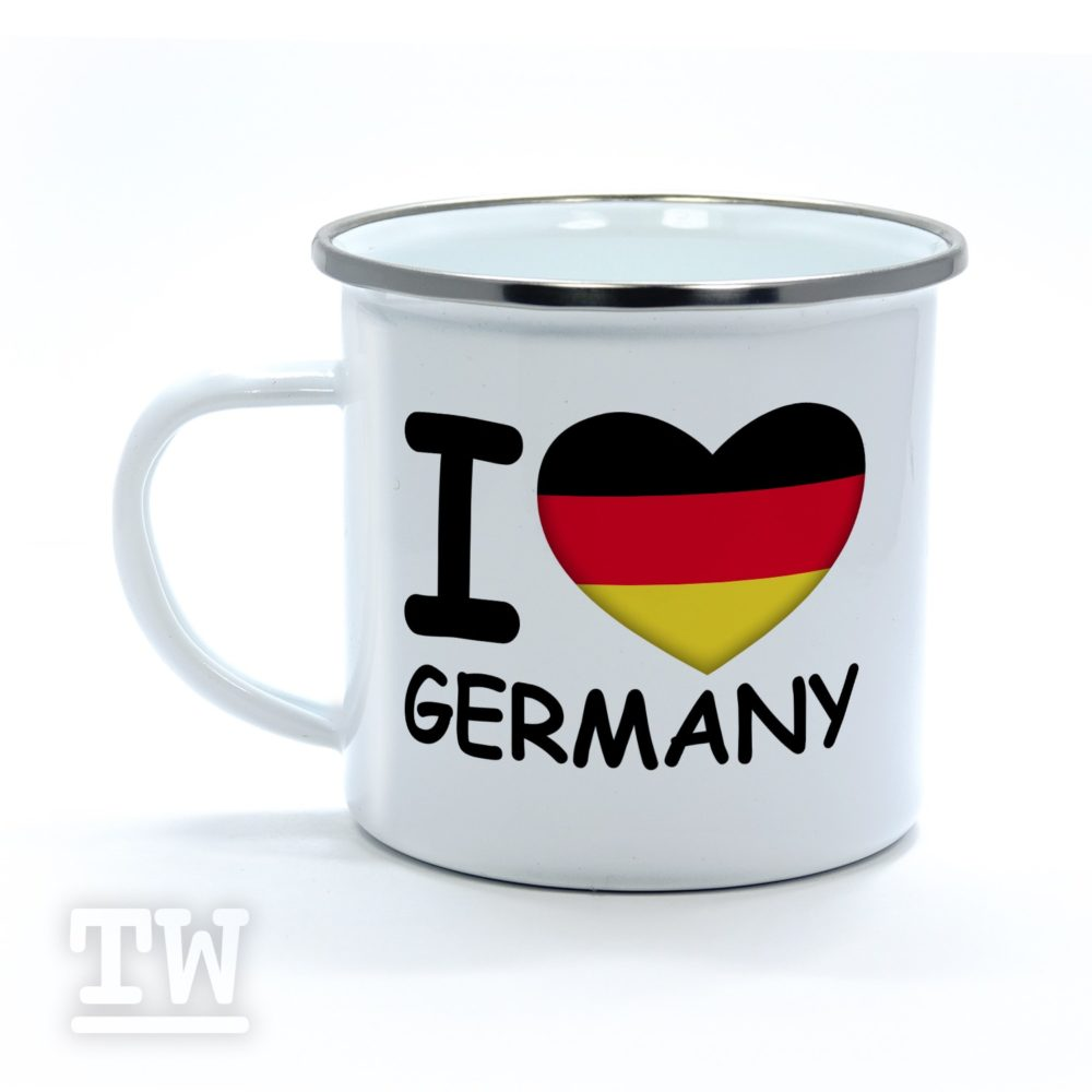Emaillebecher - I love Germany